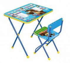 Комплект стол+стул Ника Познайка 2 Английская азбука Маша и Медведь