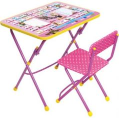 Комплект стол+стул Ника Умничка 1 Азбука 3 Маша и Медведь