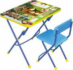 Комплект стол+стул Ника Умничка 1 Позвони мне Маша и Медведь