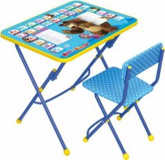 Комплект стол+стул Ника Умничка 1 Английская азбука Маша и Медведь
