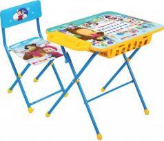 Комплект стол+стул Ника Умничка 2П Азбука 4 Маша и Медведь