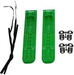 Мини-лыжи маленькие с ремнями М3 (зелёный)