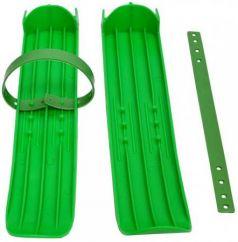 Мини-лыжи малые с ремнями Р-1 (зелёный)