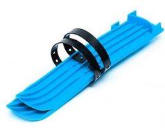 Мини-лыжи малые с ремнями РТ-2 (синий)