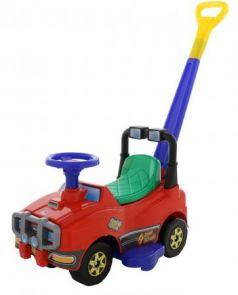 Каталка-машинка Molto Автомобиль Джип-каталка с ручкой №2 пластик от 1 года с ручкой красный