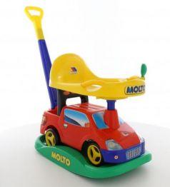 """Каталка-машинка Molto Автомобиль-каталка """"Пикап"""" пластик от 1 года с ручкой для родителей красный"""