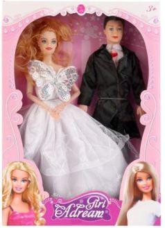 Кукла 29см с мужем, гнущаяся, цвет в ассорт. 623B в кор. в кор.2*36шт