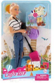 Игровой набор DEFA LUCY Кукла-путешественница