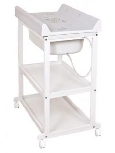 Пеленальный стол Ceba Baby Laura (white/матрасик zebra grey)