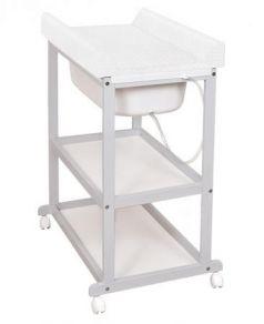 Пеленальный стол Ceba Baby Laura с матрасиком Caro (grey/матрасик white)
