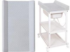 Пеленальный стол Ceba Baby Laura с матрасиком Caro (grey/матрасик grey)