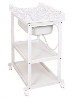 Пеленальный стол Ceba Baby Laura (beech/матрасик dream roll-over white)