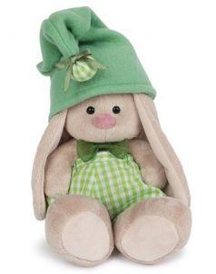 Мягкая игрушка зайка BUDI BASA Зайка Ми - гномик в зеленом 18 см зеленый искусственный мех