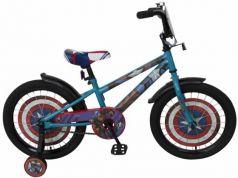 """Велосипед двухколёсный MARVEL Мстители (Капитан Америка) 18"""" голубой-красный ВН18103"""