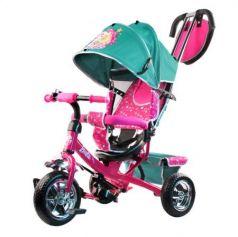 """Велосипед-коляска трехколёсный Barbie (Mattel) Велосипед-коляска 10""""/8"""" бирюзовый"""
