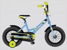"""Велосипед двухколёсный Navigator BINGO 12"""" голубой-зеленый ВН12137"""
