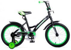 """Велосипед двухколёсный Navigator Bingo 16"""" черно-зеленый ВМ16137"""