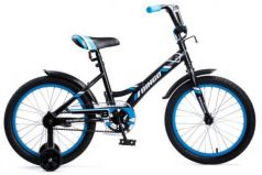 """Велосипед двухколёсный Navigator Bingo 18"""" черный-голубой ВМ18098"""
