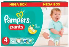 Подгузники-трусики КОМПЛЕКТ 104 шт., PAMPERS (Памперс) Active Baby Pants, размер 4 (9-14 кг)