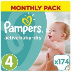 Подгузники КОМПЛЕКТ 174 шт., PAMPERS (Памперс) Active Baby, размер 4 (8-14 кг), PA-81603990