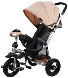 """Велосипед-коляска трехколёсный Moby Kids """"Stroller trike"""" AIR Car 10"""" бежевый"""