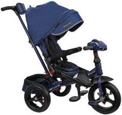 """Велосипед трехколёсный Moby Kids """"Leader 360°. AIR Car"""" 12*/10* темно-синий"""