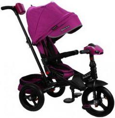 "Велосипед трехколёсный Moby Kids ""Leader 360°. AIR Car"" 12*/10* ягодно-пурпурный"