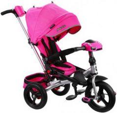 "Велосипед трехколёсный Moby Kids ""Leader 360°. AIR Car"" 12*/10* розовый"