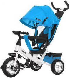 """Велосипед трехколёсный Moby Kids Comfort 10""""/8"""" голубой"""