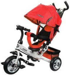 """Велосипед трехколёсный Moby Kids Comfort 10""""/8"""" красный"""