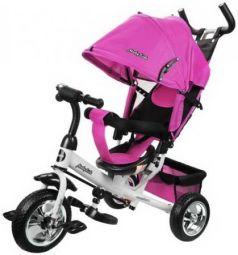 """Велосипед трехколёсный Moby Kids Comfort 10""""/8"""" розовый"""