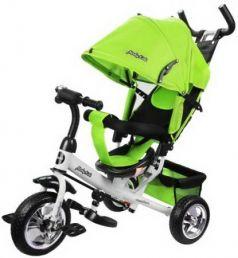 """Велосипед трехколёсный Moby Kids Comfort 10""""/8"""" зеленый"""