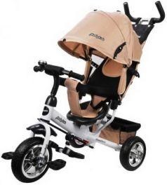 """Велосипед трехколёсный Moby Kids Comfort 10""""/8"""" бежевый"""