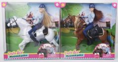 Кукла Defa Lucy Конная полиция, лошадь, в ассорт., кор.