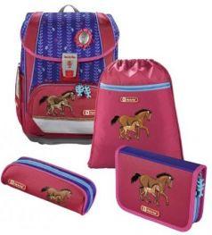 Ранец светоотражающие материалы Step by Step Light2 Lucky Horses 18 л розовый синий
