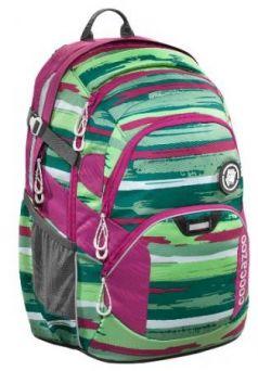 Рюкзак светоотражающие материалы Coocazoo Bartik 30 л розовый зеленый