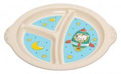 Тарелка Best Toys Пластишка 1 шт от 6 месяцев голубой