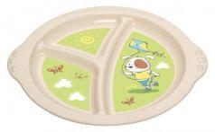 Тарелка Best Toys Пластишка 1 шт от 6 месяцев зеленый