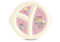 Тарелка Best Toys Пластишка 1 шт от 6 месяцев розовый