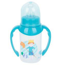 Бутылочка Пома Мечта средний поток полипропилен с рождения, 125 мл, цвет: голубой