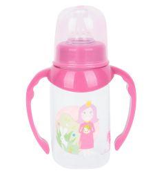 Бутылочка Пома Мечта средний поток полипропилен с рождения, 125 мл, цвет: розовый