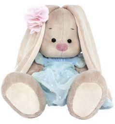 Мягкая игрушка Budi Basa Зайка Ми в голубом платье 23 см