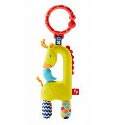 Погремушка-прорезыватель Fisher-Price Жираф, 10 х 8 см