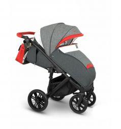 Прогулочная коляска Camarelo Cone, цвет: серый меланж/красный/белый