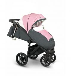 Прогулочная коляска Camarelo Cone, цвет: розовый меланж/белый