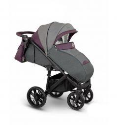 Прогулочная коляска Camarelo Cone, цвет: серый меланж/баклажан