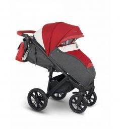 Прогулочная коляска Camarelo Cone, цвет: серый меланж/алый