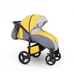 Прогулочная коляска Camarelo Elf, цвет: желтый джинс/серый