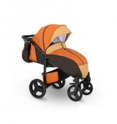 Прогулочная коляска Camarelo Elf, цвет: оранжевый джинс/бежевый