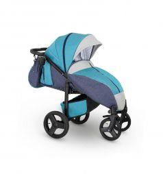 Прогулочная коляска Camarelo Elf, цвет: голубой джинс/серый